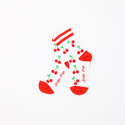 Cherry Sporty Kids Socks