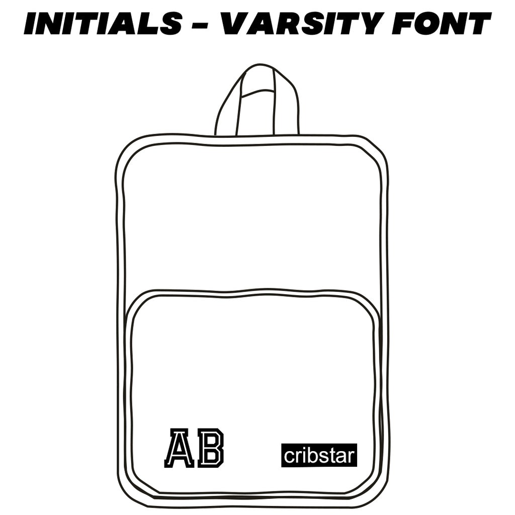 Backpack Embroidery - Bottom - Varsity Font