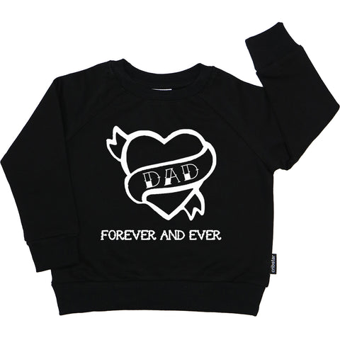 DAD Forever and Ever Motif Sweatshirt