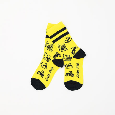Heavy Equipment Kids Socks