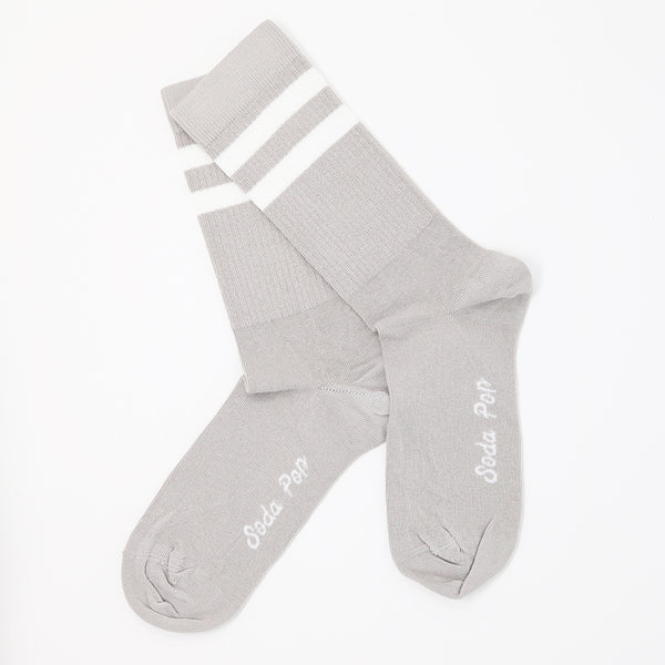 Grey Vintage Sporty Women's Socks