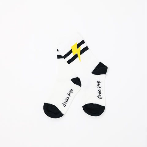 Lightning Bolt Sporty Kids Socks