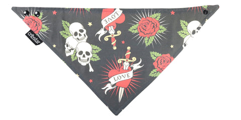 Love and Skulls Bib