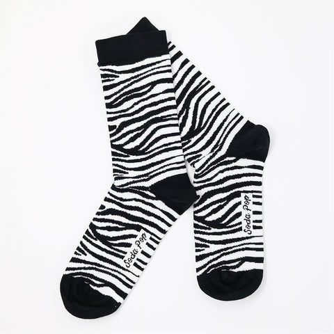 Mono Zebra Women's Socks