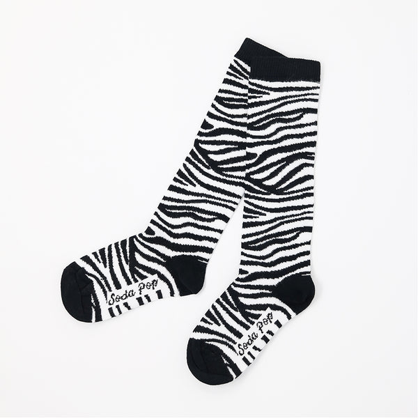 Mono Zebra Kids Knee High Socks
