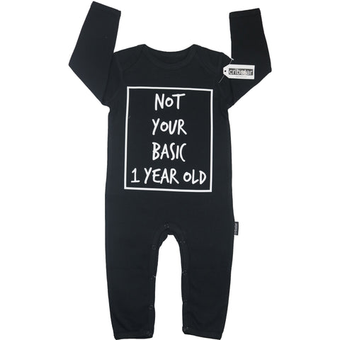 a29ba2040b0 Not Your Basic 1 Year Old Baby Romper