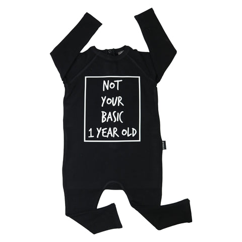 Not Your Basic 1 Year Old Long Sleeve Harem Romper