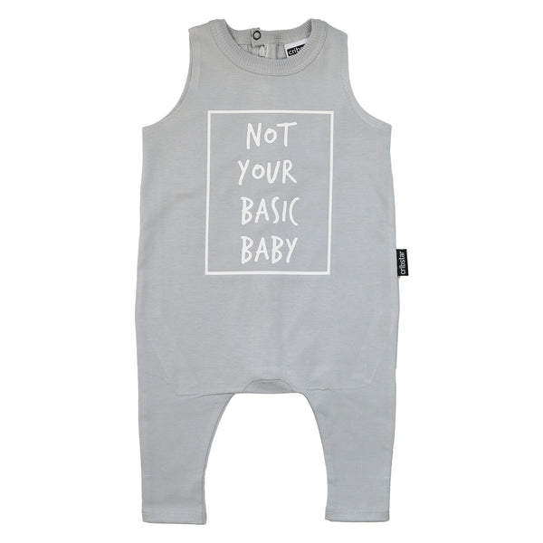 Not Your Basic Baby Sleeveless Harem Romper
