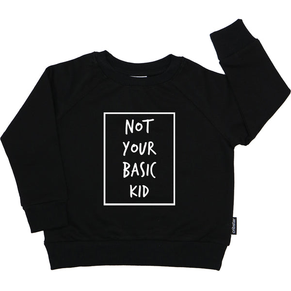 Not Your Basic Kid Motif Sweatshirt
