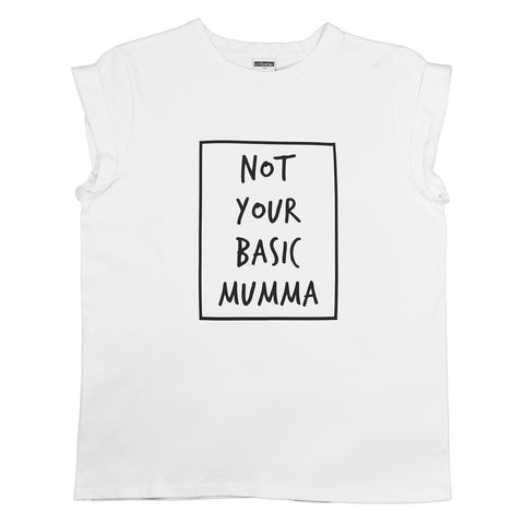 Not Your Basic Mumma T-Shirt - White (2018)