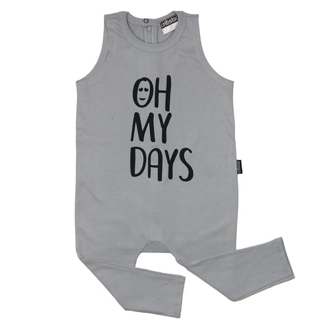 OH MY DAYS Sleeveless Harem Romper