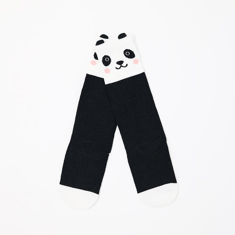 Panda Face Kids Knee High Socks