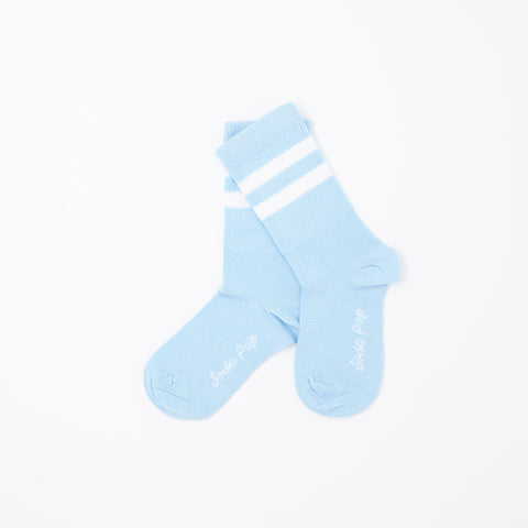 Pastel Blue Vintage Sporty Kids Socks