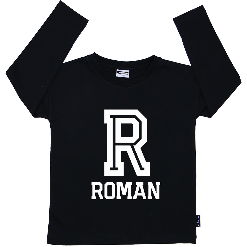 Personalised Letter/Name Long Sleeve Top