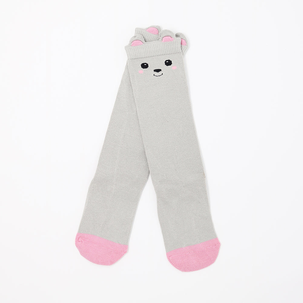 Rabbit Face Kids Knee High Socks