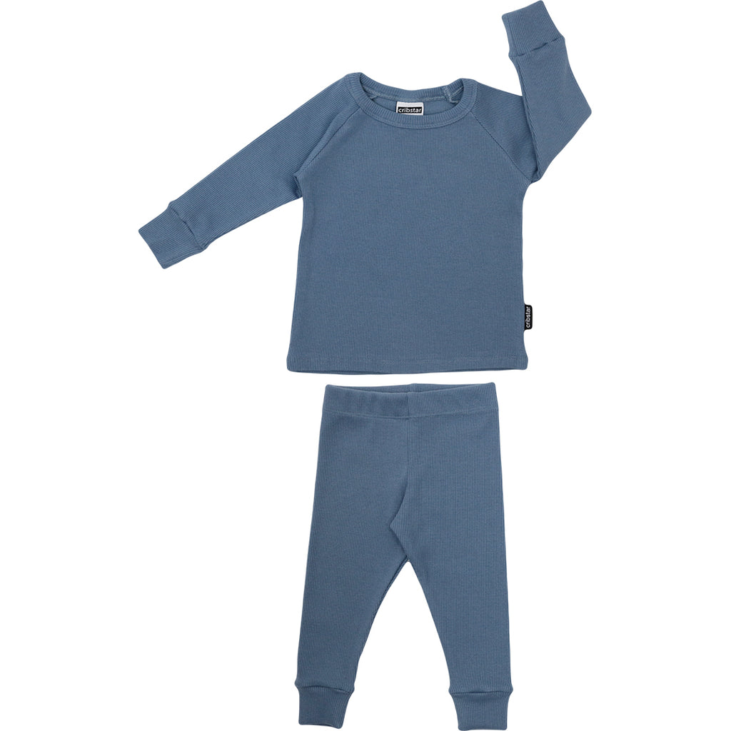 Ribbed Lounge Set - Marine Blue