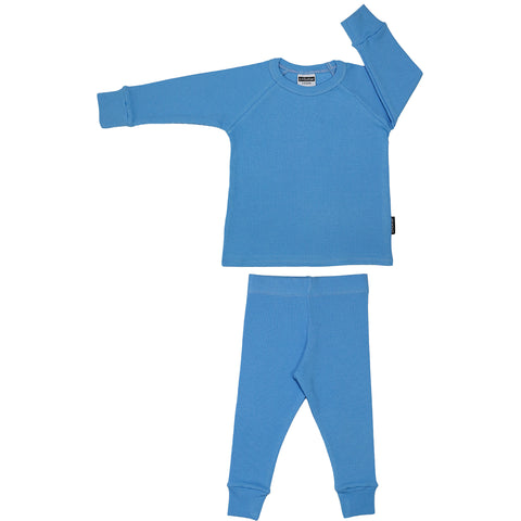 Ribbed Lounge Set - Sky Blue