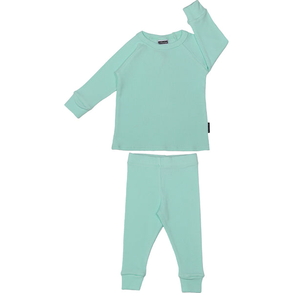 Ribbed Lounge Set - Mint Green