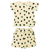 Ribbed Summer Set - Cream Dots