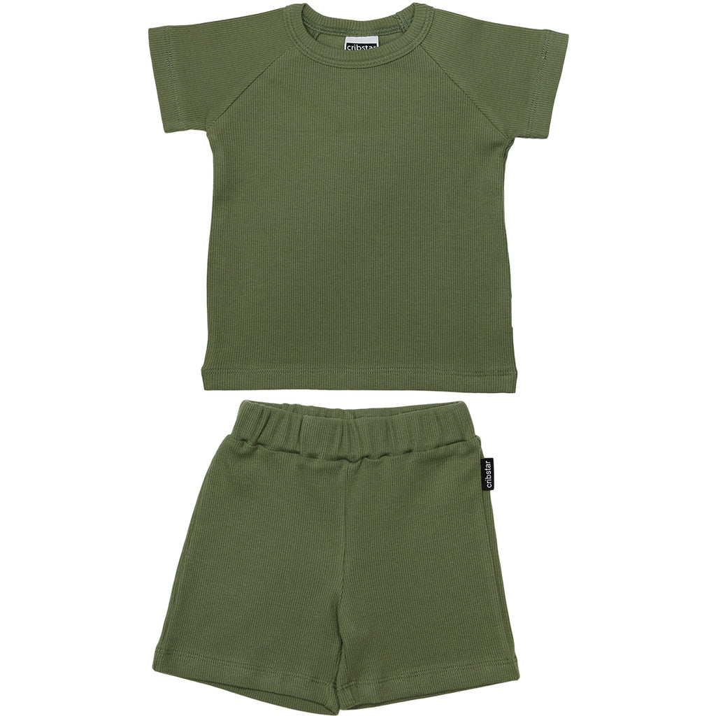Ribbed Summer Set - Khaki