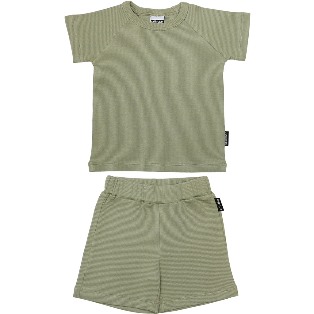 Ribbed Summer Set - Light Khaki