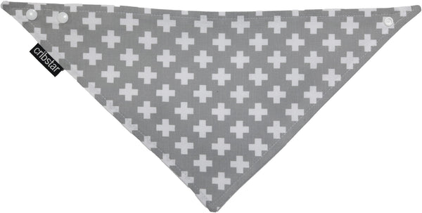 Grey/White Swiss Cross Bib