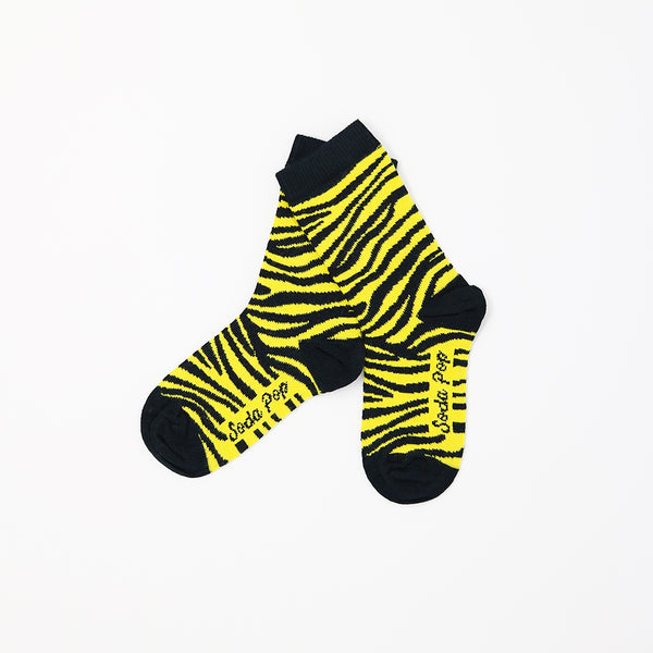 Yellow Zebra Kids Socks