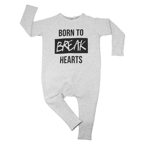 Born to Break Hearts Long Sleeve Harem Romper