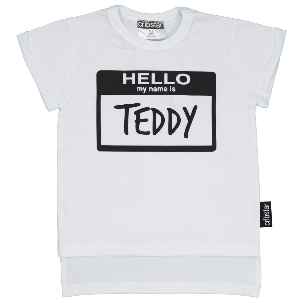 Hello My Name Is Personalised T Shirt Cribstar