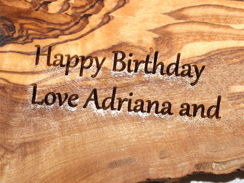 Custom Laser Engraving , Personalized monogram, Engraved Monogrammed Wooden Gift