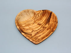 Heart shaped wooden dish