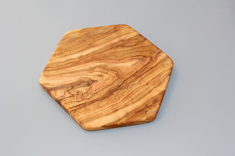 Hexagon-shaped Olive Wood Cutting board