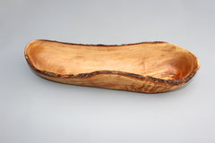 Rustic Edge Olive Wood Bread Basket, Handcrafted Baguette/Bread Basket, Bread Display, Decorative Piece, Kitchenware, Gift for Her
