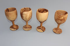 Set of 04 Olive Wood Wine Cups