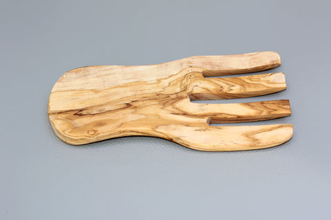 FREE SHIPPING, Olive Wood salad server / Olive Wood serving hand
