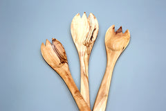 FREE SHIPPING, Olive Wood Spoon fork spork set / Wooden cooking spoons