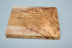 FREE SHIPPING, Handcrafted wooden soap dish - Ridged - Model 01