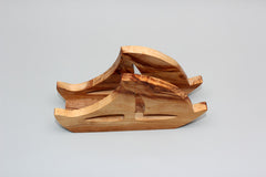 FREE SHIPPING, Olive wood Paper Towel holder / Wooden handkerchiefs holder / Business cards holder