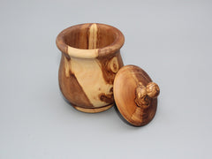 Hand-carved Olive Wood Jam Pot/Jar
