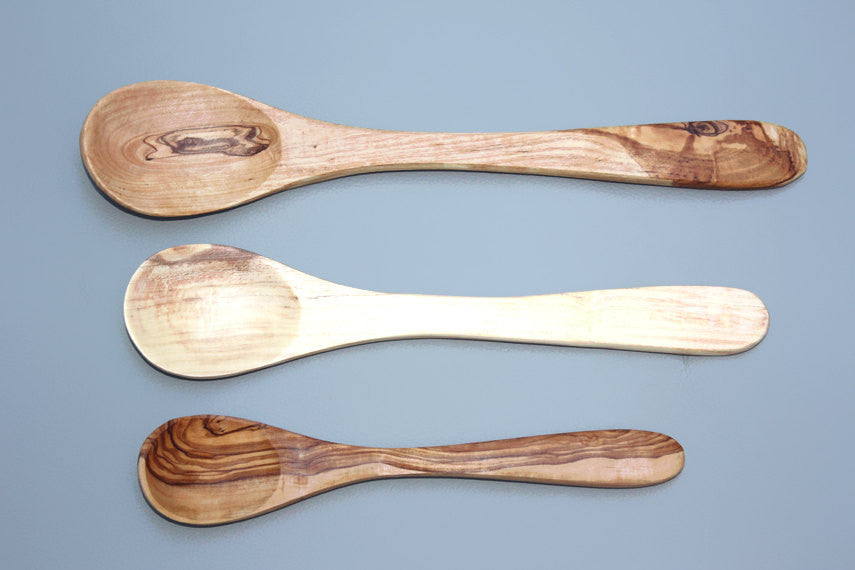 Olive Wood spoon set / Wooden Kitchen cooking salad spoons, Kitchen Cooking Utensils, Wedding Gift, Mom Gift