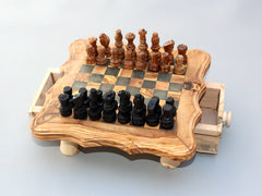 Olive wood regular Chess Set, wooden Chess Set, Chess Set Game, Chess Game, Wooden Chess Board - Small Size