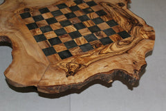 Olive Wood Rustic Chess Board with 32 Chess pieces