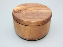 Olive Wood Spice Keeper Box, Sugar Pot , Salt Cellar - M3
