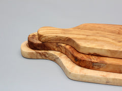 Set of 03 Olive Wood Rustic Cheese Board