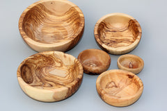Set of 6 Wooden Bowls / Olive Wood Set of 6 Bowls, Serving Bowls / Series of 6 bowls / Olive Wood nesting Bowls, Tableware Wooden Bowls