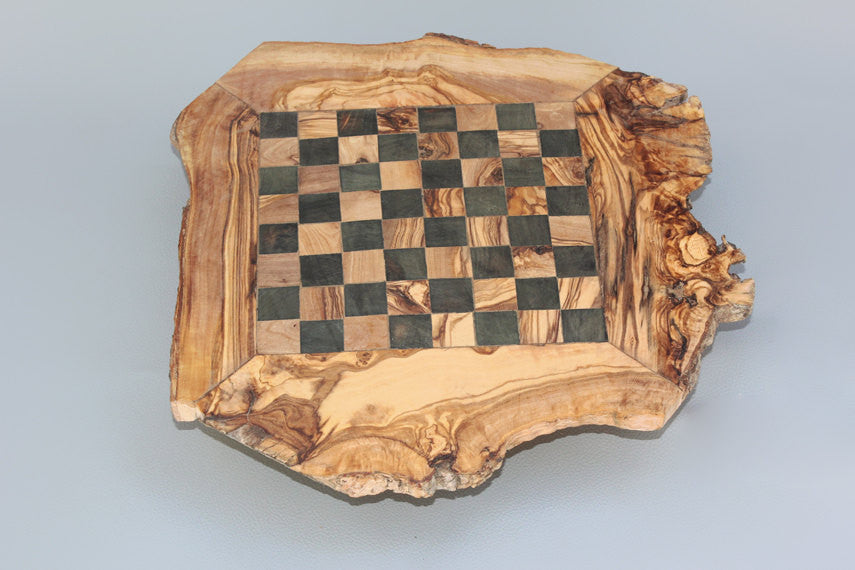 Wooden Rustic Chess Set, Custom Olive Wood Chess Board, Wooden Chess Set  Game, ...