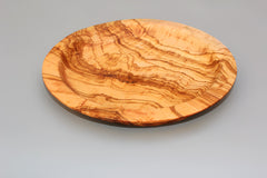 Handcrafted Olive Wood Round plate / Serving Dish