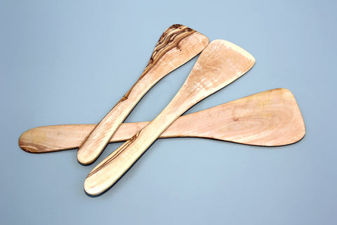 Olive Wood Spatula Set / Wooden Spatula Set, Kitchen Cooking Utensils, Wedding Gift, Mom Gift