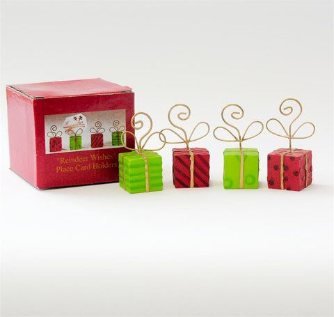 """Reindeer Wishes"" Placecard Holder Set (Box of 6)"