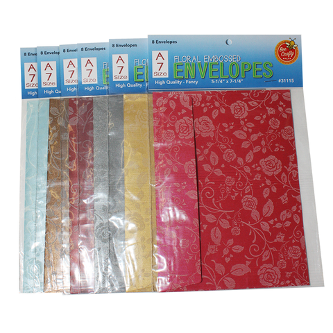 A-7 Floral Embossed Envelopes ($4.99 retail, $2.25 cost x 30 per case)